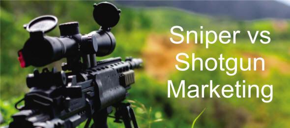 Sniper vs Shotgun Marketing Blog Header