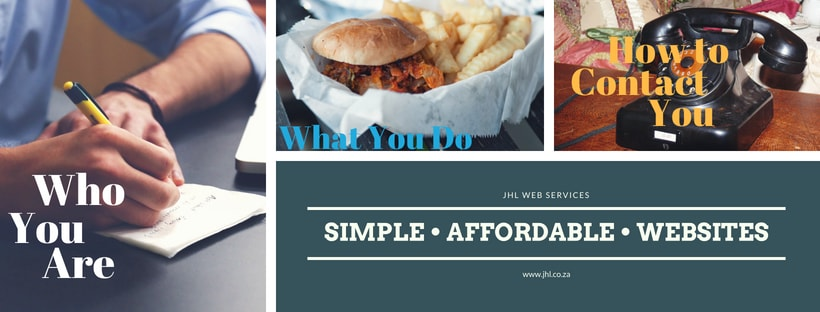 Website Expectations from JHL Web Services