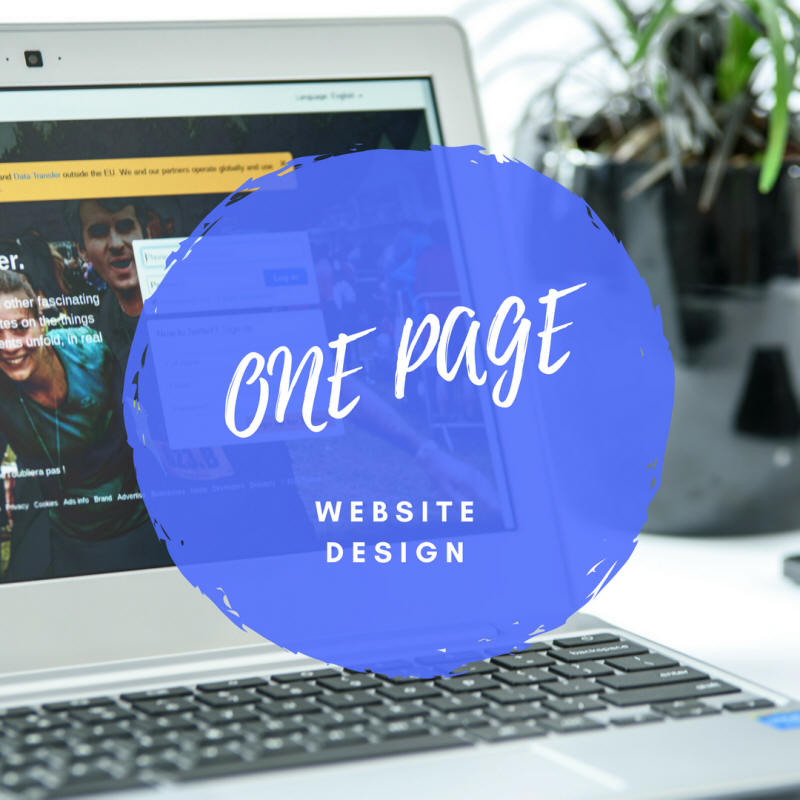 On Page One - Single One Page Website